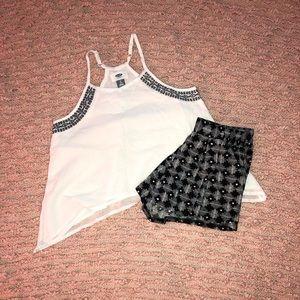 GIRLS Matching Summer Tank & Shorts Set